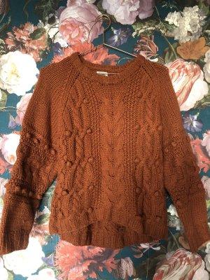 Cropped Oversize Knit Pulli