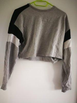 H&M Divided Cropped Jumper black-light grey