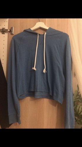 H&M Maglione con cappuccio blu