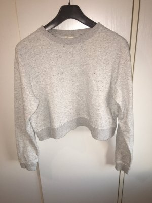 Cropped Pullover grau