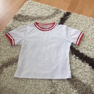 LTB Maglione a maniche corte bianco-rosso