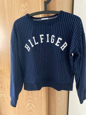 Cropped Pullover im College-Stil von Hilfiger Denim, Gr.S