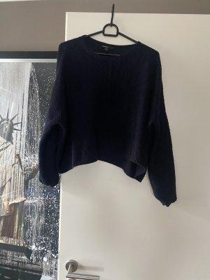 Cropped Pullover M 38 blau