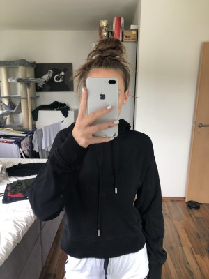 Cropped Pullover mit Kapuze