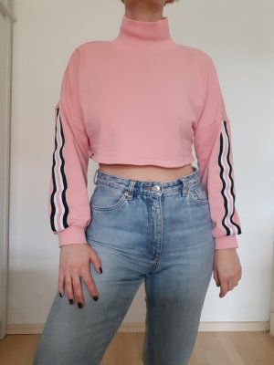 Cropped Pullover mit Rollkragen