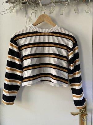 Cropped Pullover von Top Shop Oversized Gr. 32 mit Streifen