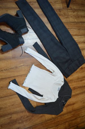 Cropped Rippenstrick Pulli weiss Fashion Nova 38