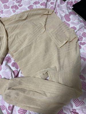 SheIn Koszula o skróconym kroju nude-beżowy