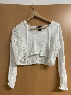 Forever 21 Crochet Shirt white