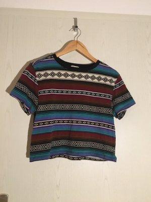 Cropped Shirt Boho bunt Forever 21