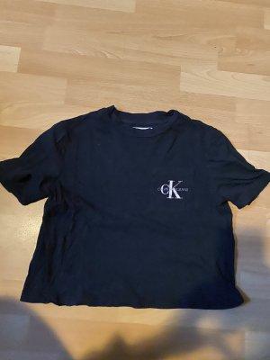 Cropped Shirt Calvin Klein Schwarz