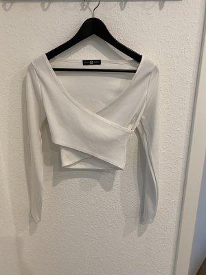 Daisy Street Cropped Shirt white