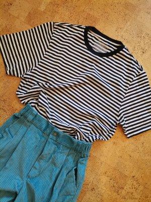 Cropped Shirt gestreift