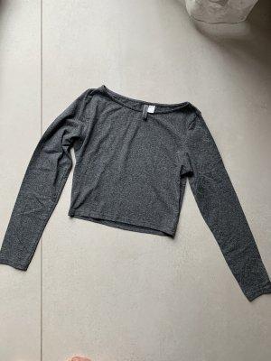 Cropped Shirt grau meliert Gr. S H&M bauchfrei