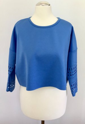 Cropped Shirt in Neopren mit Lasercut am Ärmel von Pinko