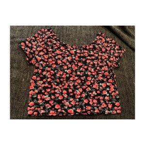 Cropped Shirt mit Blumen