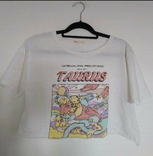 Stradivarius T-shirt court blanc