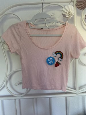 Cropped Shirt mit süßen Details