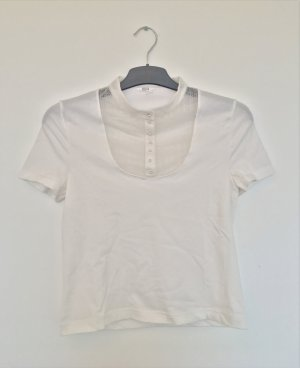 Wolford Cropped Shirt white synthetic