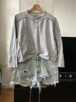 Cropped Shirt Sweatshirt Langarmshirt ZARA Größe 36