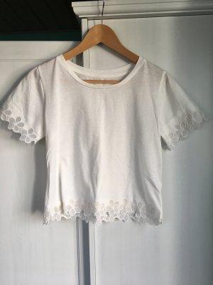 Cropped Shirt, T-Shirt weiß, Größe 34-38 *letzter Preis*