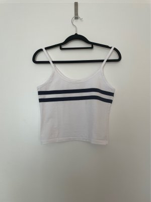 Brandy & Melville Camicia cropped bianco-blu scuro