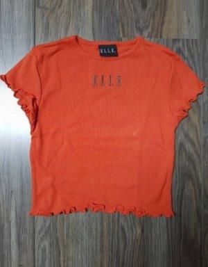 Elle Cropped Shirt brick red