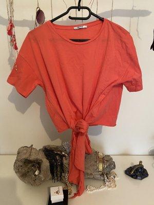 Zara Trafaluc Camisa recortada multicolor