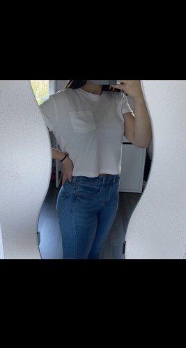 H&M Camicia cropped bianco