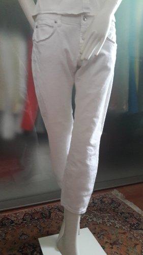 cropped Stretch Jeans weiß