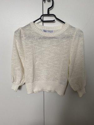 Zara Knitted Top cream