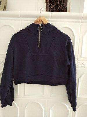 H&M Sweatshirt met capuchon blauw