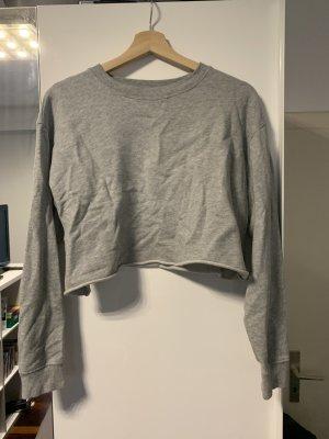 Cropped Sweater Grau