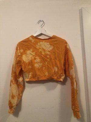 devided Cropped Jumper light orange-yellow