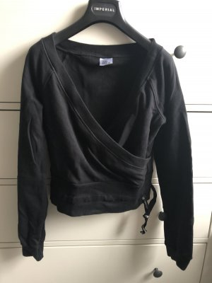 Cropped Sweatshirt in Wickeloptik