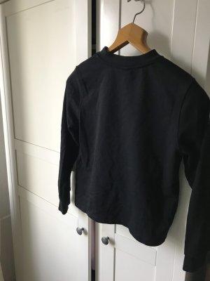Cropped Sweatshirt schwarz
