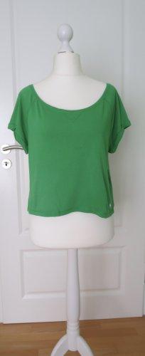 Abercrombie & Fitch Shirt basique vert-blanc coton