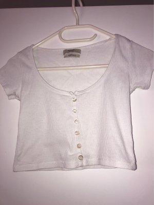 Cropped-T-Shirt mit Knöpfen