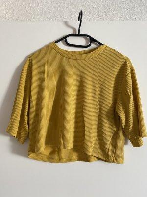 Monki Camicia cropped giallo-oro-giallo
