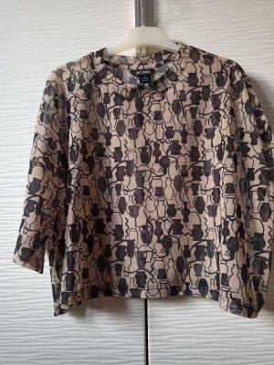 Monki Cropped Shirt black-grey brown