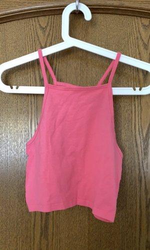 H&M Top corto rosa