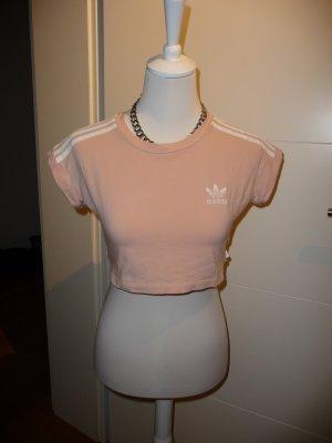Adidas Top recortado albaricoque-blanco Algodón
