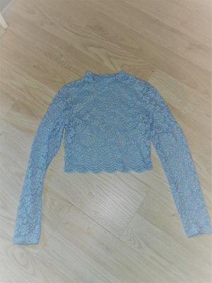 H&M Divided Cropped top lichtblauw Polyester