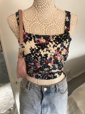 Cropped Top Blumenmuster