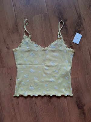 Hollister Cropped top wit-sleutelbloem