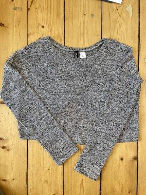 H&M Camicia cropped grigio