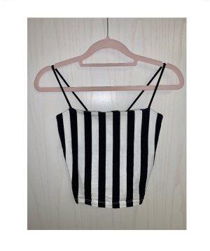 Cropped Top gestreift, schwarz-weiß, black-white