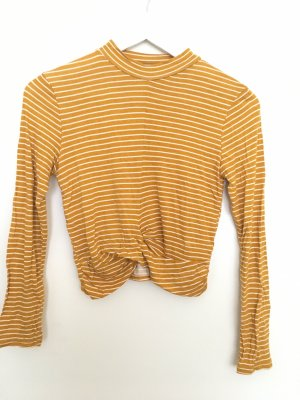 Ambiance Cropped top goud Oranje-wit