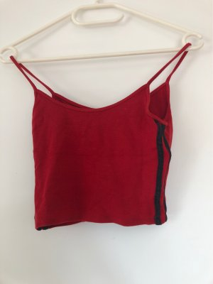 Brandy & Melville Top corto nero-rosso