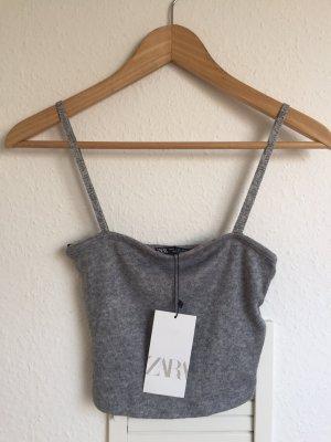 Cropped top mit spaghetti Trägern Zara S